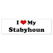 I Love Stabyhoun Bumper Bumper Sticker