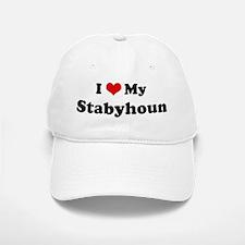 I Love Stabyhoun Baseball Baseball Cap