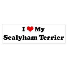 I Love Sealyham Terrier Bumper Car Sticker