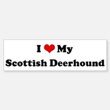 I Love Scottish Deerhound Bumper Bumper Bumper Sticker
