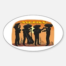 Mariachi Oval Decal