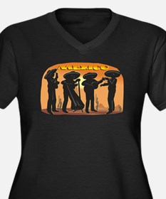 Mariachi Women's Plus Size V-Neck Dark T-Shirt