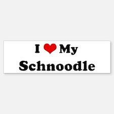 I Love Schnoodle Bumper Bumper Bumper Sticker