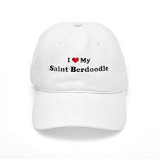 I Love Saint Berdoodle Baseball Cap