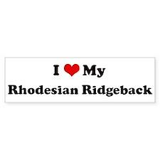 I Love Rhodesian Ridgeback Bumper Car Sticker