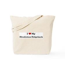 I Love Rhodesian Ridgeback Tote Bag