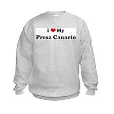 I Love Presa Canario Sweatshirt