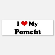 I Love Pomchi Bumper Car Car Sticker