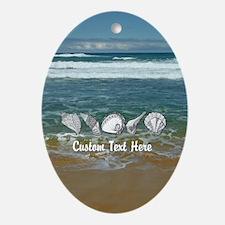 Original Seashell Customizable Art Ornament (Oval)