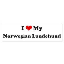 I Love Norwegian Lundehund Bumper Bumper Sticker