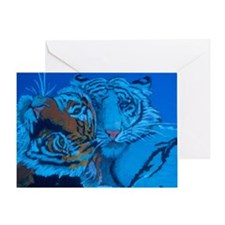 Unique Tiger Greeting Card