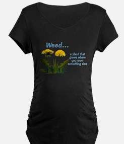Dandelions Weed Maternity T-Shirt