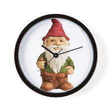 Garden Gnome 1 copy Wall Clock