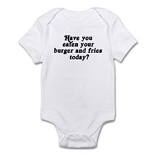 burger and fries today Infant Bodysuit