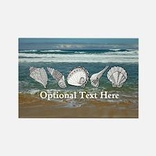Original Seashell Customizable Ar Rectangle Magnet
