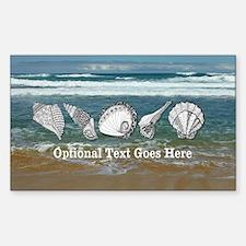 Original Seashell Customizable Decal
