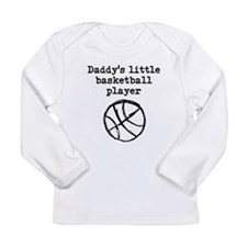 Daddys Little Basketball Player Long Sleeve T-Shir