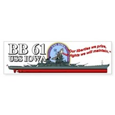 Uss Iowa Bb-61 Bumper Bumper Sticker