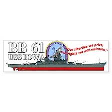 Uss Iowa Bb-61 Bumper Stickers