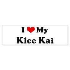 I Love Klee Kai Bumper Bumper Sticker