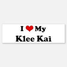 I Love Klee Kai Bumper Car Car Sticker