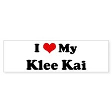 I Love Klee Kai Bumper Car Sticker