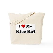 I Love Klee Kai Tote Bag