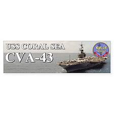 Uss Coral Sea Cva-43 Bumper Bumper Sticker