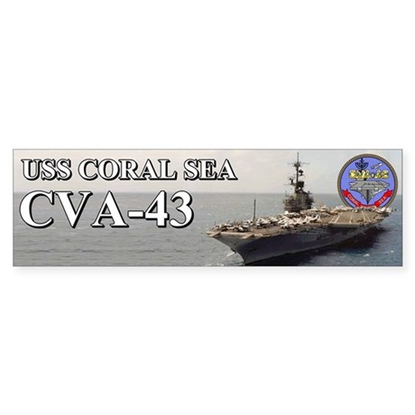 Uss Coral Sea Cva-43 Bumper Sticker