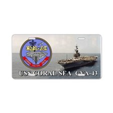 Uss Coral Sea Cva-43 Aluminum License Plate