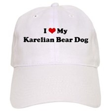 I Love Karelian Bear Dog Baseball Cap
