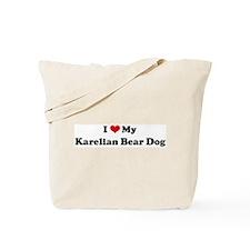 I Love Karelian Bear Dog Tote Bag