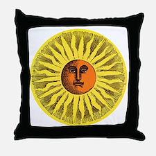 Antique Sun Throw Pillow