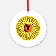 Antique Sun Round Ornament