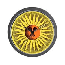 Antique Sun Wall Clock