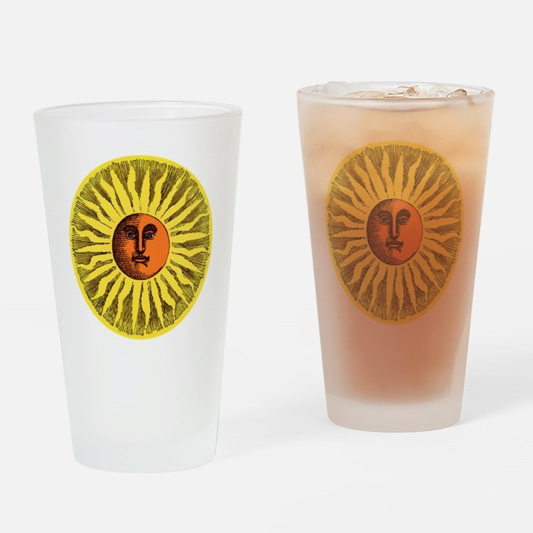 Antique Sun Drinking Glass