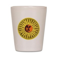 Antique Sun Shot Glass