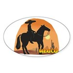 Mexican Horse Oval Sticker