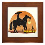 Mexican Horse Framed Tile