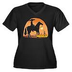 Mexican Horse Women's Plus Size V-Neck Dark T-Shir