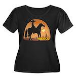 Mexican Horse Women's Plus Size Scoop Neck Dark T-