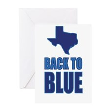 Texas: Back to Blue Greeting Card