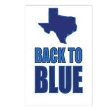 Texas: Back to Blue Postcards (Package of 8)