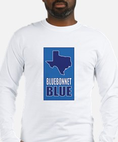 [Texas] Bluebonnet Blue Long Sleeve T-Shirt