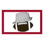 Houndstooth & Football Sticker (rectangle)