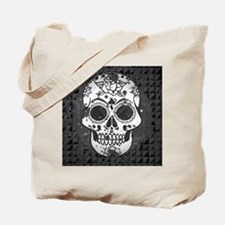 Black and white skull Tote Bag