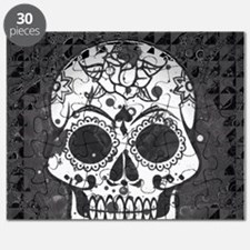 Black and white skull Puzzle