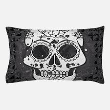 Black and white skull Pillow Case