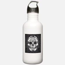 Black and white skull Water Bottle