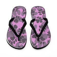 Paws Camo Flip Flops